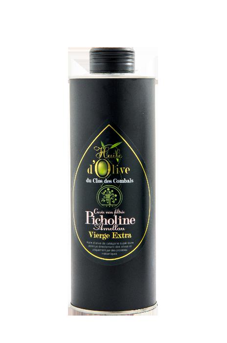 huile olive vierge extra picholine amella vierge extra cuvée non filtrée